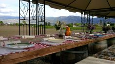 Farm to table in West Kelowna at Rabbit Hollow. Country Farm, Outdoor Furniture, Outdoor Decor, Rabbit, Events, Table, Home Decor, Bunny, Rabbits