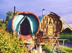 Journey Folki > History & Culture > The English Gypsy Vardo > The Open Lot -photo Barrie Law