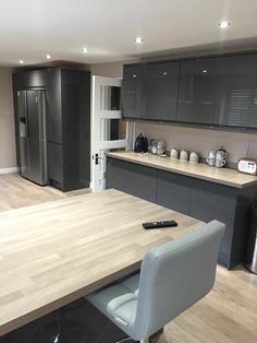 This Bayswater Gloss Grey Kitchen Was Designedhowdens In Classy Kitchen Design Grey Design Decoration
