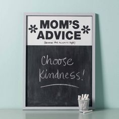 How to Make a Mom's Advice Chalkboard - Project | Plaid Online
