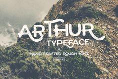 arthur typeface font_the retro design toolbox #retro #design #bundle