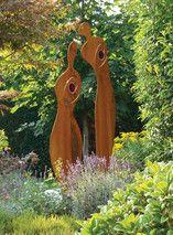 SILAS Skulpturen aus wetterfestem Baustahl ein besonderes Gartendesign