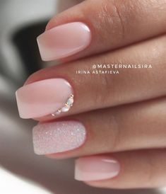 Shop for nail polish and nail care products. Indulge in the latest nail trends from summit brands considering OPI, Essie, Butter London and more. * Check out this great product. (This is an affiliate link) Bridal Nails Designs, Wedding Nails Design, Wedding Manicure, Pink Wedding Nails, Bridal Nail Art, Wedding Makeup, Fun Nails, Pretty Nails, Cinderella Nails