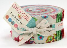 Moda Gypsy Girl Jelly Roll Fabric 2 1/2 inch Strips-  Clearance SALE via Etsy