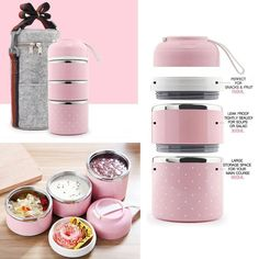 The Best Premium Portable Cute Mini Leak-Proof Stainless Steel Thermal Lunch Box with option of Thermal Bag to keep food warm for longer. Prefer to carry lunch to work? If you like to eat your food hot and fresh, even hours af. Cute Lunch Boxes, Lunch Boxes For Adults, Adult Lunch Box, Thermal Lunch Box, Stainless Steel Lunch Box, Lunch Box Containers, Warm Food, Bento Box, Weight Watchers Meals