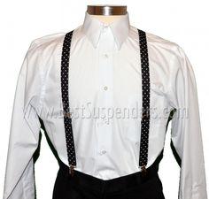 Black & White Polka-Dot suspenders