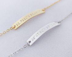 Custom Coordinates Bracelet Personalized by BlushesAndGold on Etsy