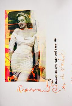 Giuliano Grittini Marilyn Release, 2015 tecnica mista su carta silx print, cm 150x100