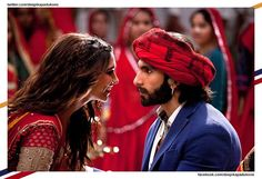 Deepika and Raveer a scene from the movie Ram Leela