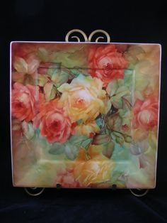 Step by step on tinted background/ Roses | ARTchat - Porcelain Art Plus (formerly Chatty Teachers & Artists)