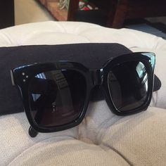 Celine Tilda sunglasses Celine Tilda sunglasses in black. Worn just a few times. The pictures of the arms are of the inside arm of the glasses. Celine Accessories Sunglasses