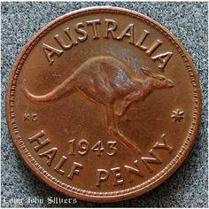 1943 M Australia Halfpenny coin KGVI Good Grade Listing in the Australia,Australasia,Coins,Coins & Banknotes Category on eBid United Kingdom | 147566743
