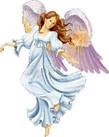 Engel in t Blauw met Paarse Vleugels