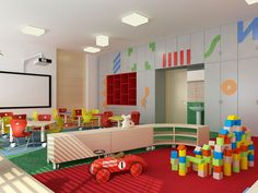 The model project of interior design | Kindergarden furniture