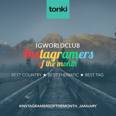 Present  I N S T A G R A M E R S  O F  T H E  M O N T H  J A N N U A R Y  330 Igworldclub Country Account  R U L E S  Put the Tag  #ig_countryaward #instagramersofthemonth_january  Follow @igworldclub @tonki_design @ig_ivrea New photos of the month  Unlimited entries  Monday February 1 Igworldclub will choose the Best 4 photos for each category  Who will take more like win the contest.  The categories are: Best Country Award Best Thematic Best Tag  You have time to tag your photos until…