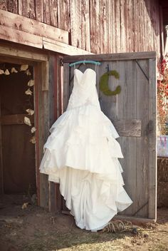 Moss Letter Dress Barn Wedding