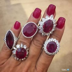 """4,691 Likes, 65 Comments - TRACEY ELLISONTHEDIAMONDSGIRL (@thediamondsgirl) on Instagram: """"IT'S THE POWER OF LOVE!!!! A handful of @baycojewels rubies.... What could be better? Gorgeous and…"""""""