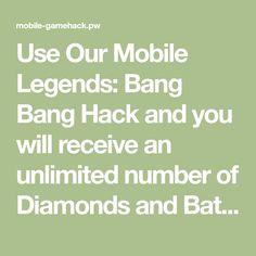 Mobile Legends: Bang Bang Online Hack - Get Unlimited Diamonds and Battle Points Pool Coins, Gold Mobile, Clash Of Clans Hack, Apple Mobile, Play Hacks, App Hack, Android Hacks, All Hero, Free Gems