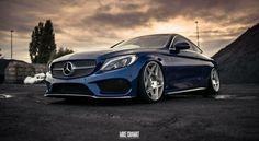 #Mercedes C_Coupe #C205 #Stance on #3SDM_Wheels #Modified #Slammed