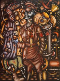 Underworld Kingdom by Eugene Ivanov. #eugeneivanov #steampunk #science #fiction #fantasy #machinery #victorian #illustration #art #original  #@eugene_1_ivanov
