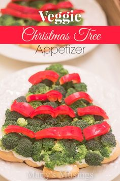 Veggie Christmas Tree Appetizer from Marty's Musings