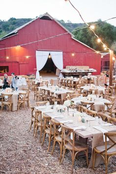rustic wedding venue for fall wedding reception ideas