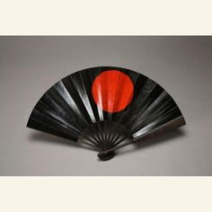 """Gunsen  Japan, 1800-1850  Asian Art Museum  """"In Japan commanders of samurai combat teams used a gunsen, an instrument resembling a baton, which sometimes took the form of a folding fan. This instrument was an emblem of the rank of supreme commander of the army and was used to direct the movement of troops. Two heavy iron guards enclose the ten dark-colored bamboo ribs of this fan. Covered with lacquered paper, both ends of the ribs are glued to the iron guards. The lower ends of the ribs and"""