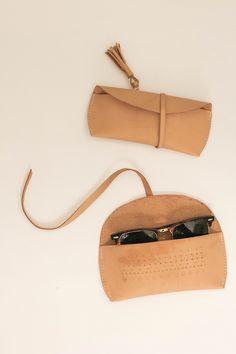 DIY Leather Sunglasses Case |  @courtney_weston