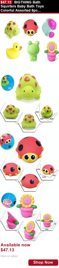 Baby Bathing Accessories: Bigthing Bath Squirters Baby Bath Toys Colorful Assorted 6Pcs BUY IT NOW ONLY: $47.13