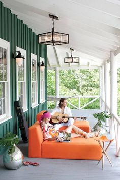 Capitol Lighting has your outdoor ceiling lights and outdoor hanging lanterns for porch lighting here. Shop all styles of porch lights at Capitol Lighting. Outdoor Rooms, Outdoor Living, Outdoor Furniture, Outdoor Decor, Mondrian, Porches, Traditional Porch, House Entrance, Log Homes