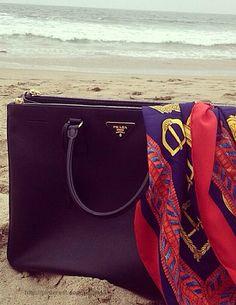 Black Leather Classic Prada Bag