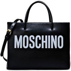 Moschino Handbag ($700) ❤ liked on Polyvore featuring bags, handbags, shoulder bags, moschino, bolsa, black, purse pouch, handbag pouch, pouch purse and moschino handbags