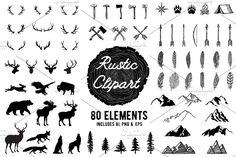 Rustic Clipart Volume 1 - AI PNG EPS by BirDIY Design on @creativemarket