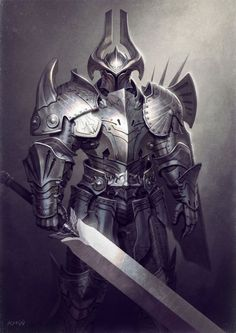 r/ImaginaryKnights: Art featuring medieval knights and their fantasy/sci-fi counterparts. Armadura Medieval, 3d Fantasy, Fantasy Armor, Medieval Armor, Medieval Fantasy, Medieval Knight, Armor Concept, Concept Art, Fantasy Character Design