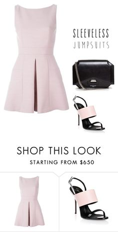 """Untitled #184"" by nastiazaporozhchenko ❤ liked on Polyvore featuring Alexander McQueen, Giuseppe Zanotti, Givenchy and sleevelessjumpsuits"