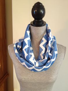 Chevron Microfleece Infinity Scarf in Light Blue: $15.00   This scarf is made from a microfleece that feels very light and soft against your skin. Your Skin, Chevron, Infinity, Light Blue, Feels, Fashion, Moda, La Mode, Fasion