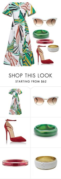 """""""Untitled #823"""" by almtann ❤ liked on Polyvore featuring Emilio Pucci, Gucci, Christian Louboutin, Palm Beach Jewelry and Dolce&Gabbana"""