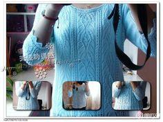 Мобильный LiveInternet Ажурный пуловер цвета неба спицами | MSLANAVI_COM - Модные модели для вязания на MSLANAVI_COM |
