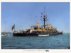 Italian Battleship R.N. Sardegna 1890.