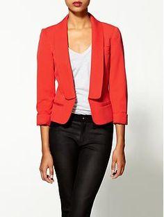For an hourglass figure try Bardot's Bilson crop jacket ($99).