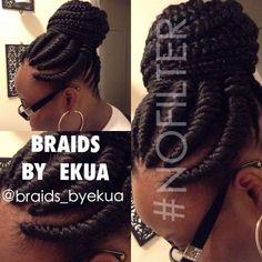 Women Hairstyles Shoulder Length Painless braiding style by Braids By Ekua - blackhairinformat. Natural Braids, Natural Hair Tips, Natural Hair Styles, Short Hair Styles, Ethnic Hairstyles, Braided Hairstyles, Cool Hairstyles, Braided Updo, Headband Hairstyles