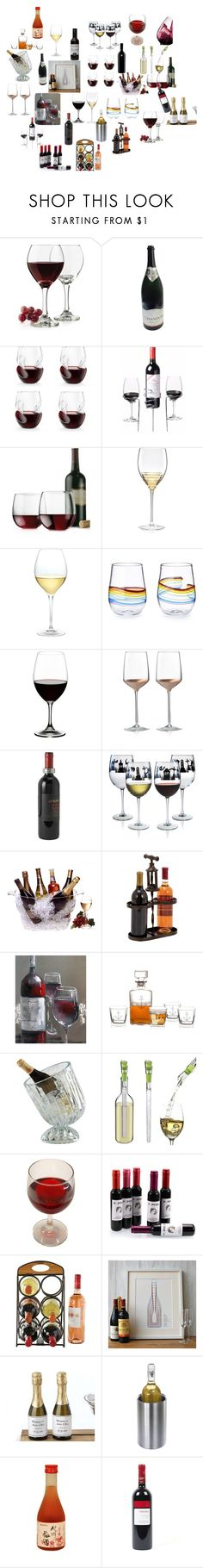 """""""wine"""" by cupcakekisss on Polyvore featuring interior, interiors, interior design, home, home decor, interior decorating, Libbey, Kate Spade, Nordstrom and Riedel"""