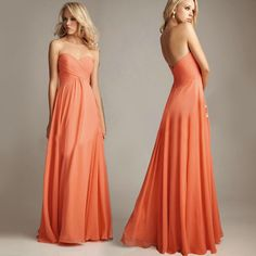 Orange and Purple Wedding Prom Gowns Evening Party Ball Strapless Long Dress LF028 on AliExpress.com. $43.62