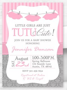 find this pin and more on ballerina baby shower tutu baby shower invitation