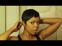 Mane Taming with Malinda Williams Episode 2 - Finally someone has explained how to do a wrap set for short hair - YAY