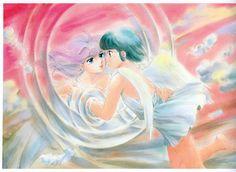 Akemi Takada - Creamy Mami (Creamy & Yuu). Yuu through the mirror.