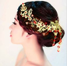 2015 Bridal Wedding Jewelry Chinese Style Tiara Crown Lady s Headband Rhinestone