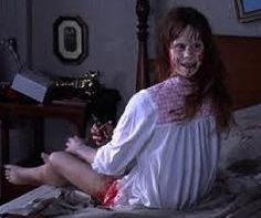 Regan MacNeil (in The Exorcist, Portrayed by Linda Blair. Voiced by Mercedes McCambridge Famous Movies, Good Movies, Horror Films, Horror Stories, The Exorcist 1973, Exorcist Movie, Creepy Movies, Linda Blair, Best Horrors