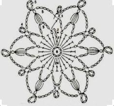 Crochet Snowflake Pattern, Crochet Motifs, Christmas Crochet Patterns, Holiday Crochet, Crochet Snowflakes, Crochet Flower Patterns, Freeform Crochet, Crochet Diagram, Crochet Stitches Patterns