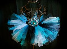 Turquoise Zebra Tutu Skirt by formyprincesstutus on Etsy, $17.50